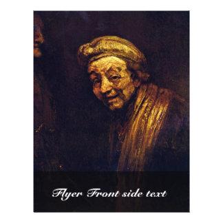 Self-Portrait With Maulstick (Self-Portrait As Zeu 21.5 Cm X 28 Cm Flyer