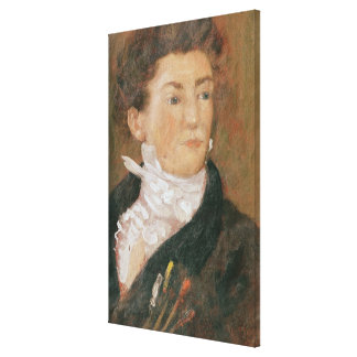 Self portrait with paintbrushes gallery wrap canvas
