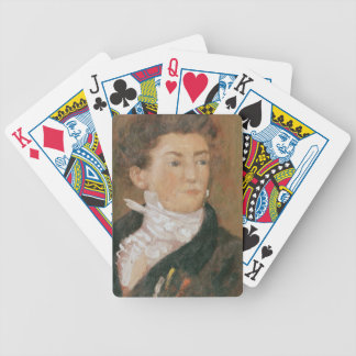 Self portrait with paintbrushes poker deck