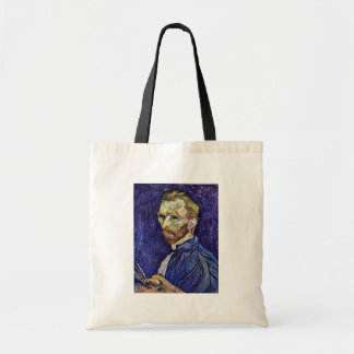 Self Portrait With Palette By Vincent Van Gogh Tote Bags