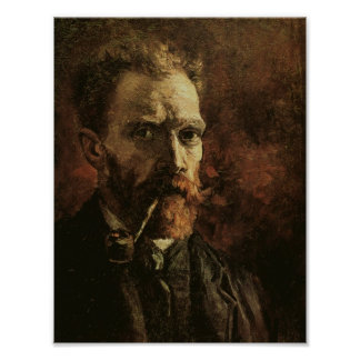 Self-Portrait with Pipe, Vincent van Gogh Poster