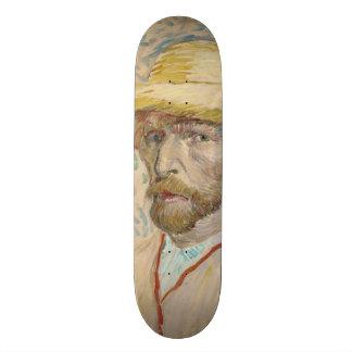 Self-Portrait with Straw Hat by Vincent Van Gogh 21.3 Cm Mini Skateboard Deck