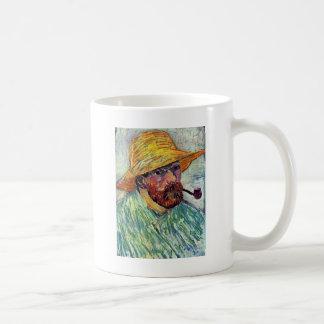 Self-Portrait With Straw Hat By Vincent Van Gogh Coffee Mug