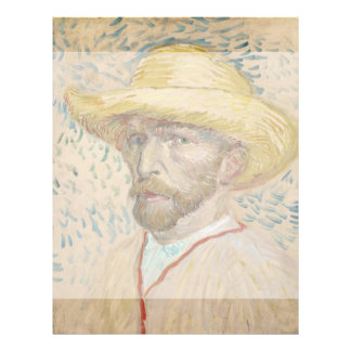 Self-Portrait with Straw Hat by Vincent Van Gogh Flyers