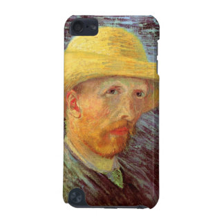 Self-Portrait with Straw Hat by Vincent van Gogh iPod Touch (5th Generation) Cover