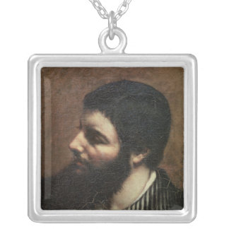 Self Portrait with Striped Collar Silver Plated Necklace
