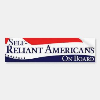 Self-Reliant Americans On Board (Patriotic) Bumper Sticker