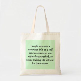Self service checkout budget tote bag