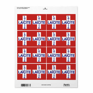 self-stick label Swiss flag secularity