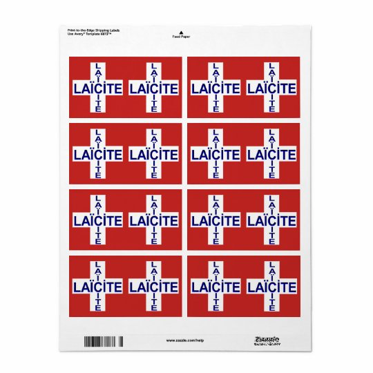self-stick label Swiss flag secularity Shipping Label