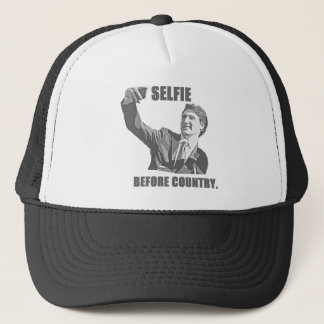 Selfie Before Country - Trudeau Trucker Hat