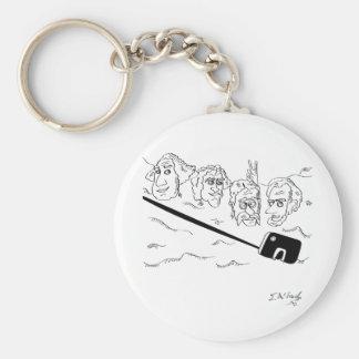 Selfie Cartoon 9342 Basic Round Button Key Ring