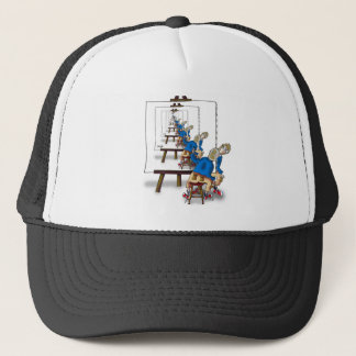 Selfie Cartoon 9472 Trucker Hat