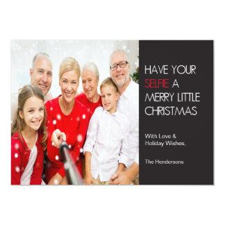 Selfie Christmas Card 13 Cm X 18 Cm Invitation Card
