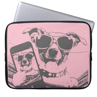 selfie dogs laptop sleeve