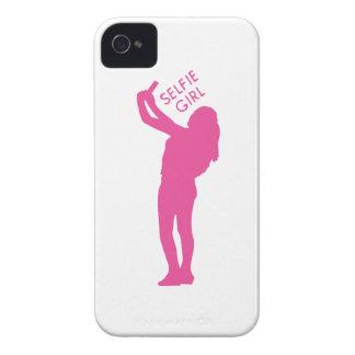 Selfie Girl Graphic iPhone 4 Case-Mate Case