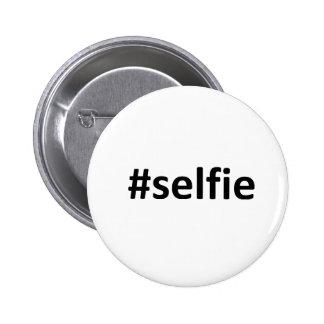Selfie Hashtag 6 Cm Round Badge