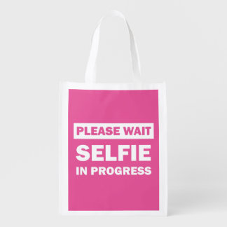 Selfie In Progress Reusable Grocery Bag
