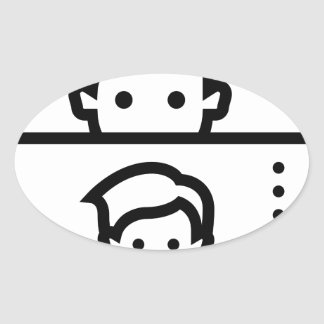 Selfie Oval Sticker