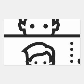 Selfie Rectangular Sticker