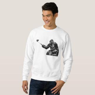 Selfie stick mens sweatshirt