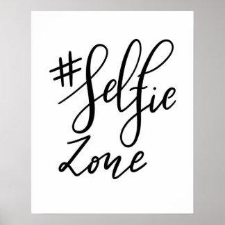 Selfie Zone Handwritten Script Modern Wedding Sign