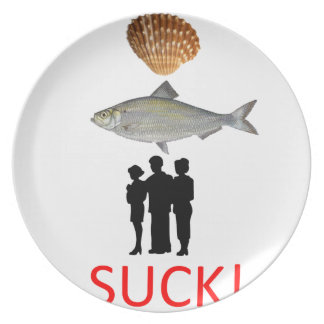 Selfish People Suck Plate