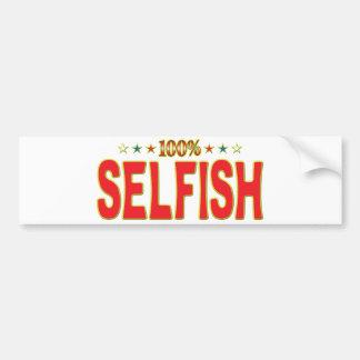 Selfish Star Tag Bumper Stickers