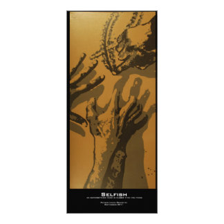 """Selfish"" Value Bookmark Full Color Rack Card"