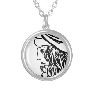 Selim, child of Damascus Silver Plated Necklace