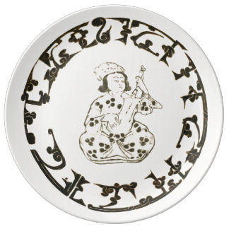 Seljuk plate in porcelain