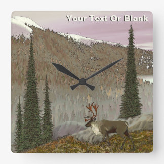 Selkirk Caribou Square Wall Clock