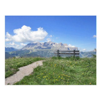 Sella Massif Corvara Italy Alta Badia Post Card