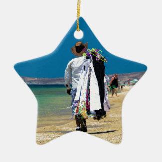 Seller on the beach ceramic star decoration