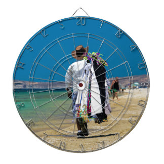 Seller on the beach dartboard