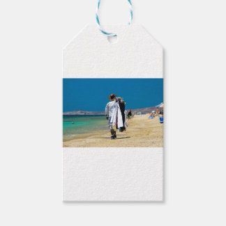 Seller on the beach gift tags