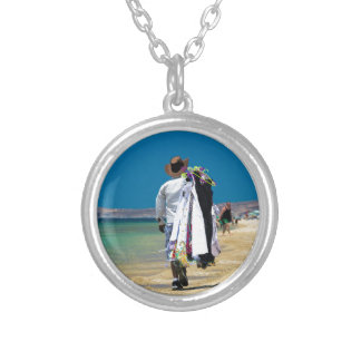 Seller on the beach silver plated necklace