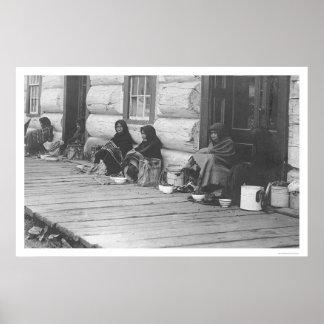Selling Berries in Alaska 1905 Poster