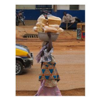 Selling Bread in Ghana Postcard
