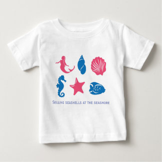 Selling seashells at the seashore - unique design baby T-Shirt