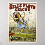 Sells Floto Circus - M'lle Beeson- High Wire Venus Print