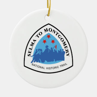 Selma to Montgomery Trail Sign, Alabama Ceramic Ornament