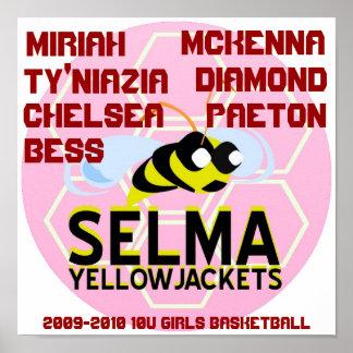 SELMA YELLOWJACKETS 10U GIRLS BASKETBALL POSTER