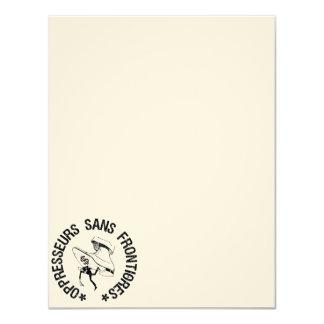 SEM OPPRESSORS BORDER 11 CM X 14 CM INVITATION CARD
