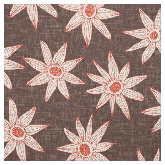sema brown fire orange fabric