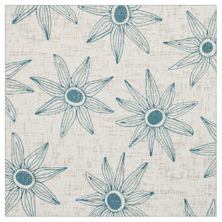 sema cream blue fabric