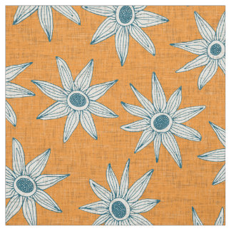 sema tangerine blue fabric