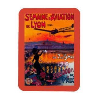 Semaine d' Aviation De Lyon Vintage Poster Rectangular Photo Magnet