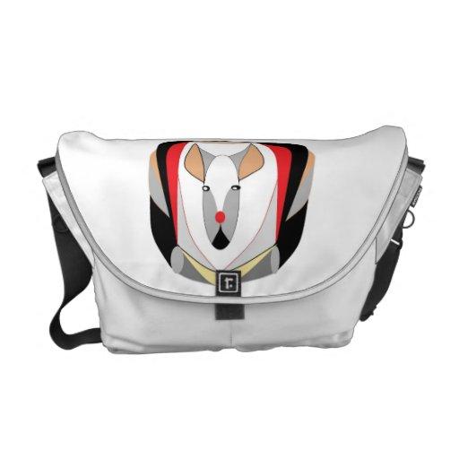 Semi- abstract animal commuter bag