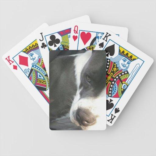 Semi abstract Bulldog image Card Deck